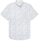 Club Monaco Button-Down Collar Flamingo-Print Cotton Shirt
