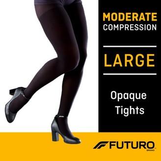 Futuro Opaque Tights, Unisex, Moderate Compression, Large, Black