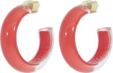 Alison Lou Small Coral LOUcite Jelly Hoops