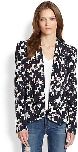 Rebecca Minkoff Becky Silk Printed Blazer
