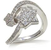 ".56ctw Absolute Sterling Silver ""Shooting Star"" Pave Bypass Ring"