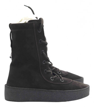 Yeezy Brown Suede Boots