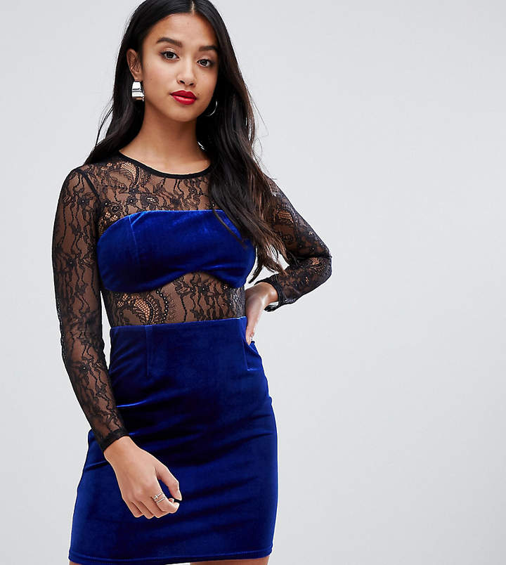 5b4444fb5976 Asos Blue Sheer Lace Dresses - ShopStyle UK