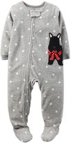 Carter's Graphic Zip Footie (Toddler/Kid) - Scottie-3T