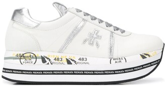 Premiata Beth striped-platform sneakers