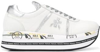 Premiata Beth striped-platform sneakers