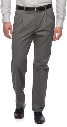 Croft & Barrow Big & Tall Classic-Fit Easy-Care Stretch Pleated Khaki Pants