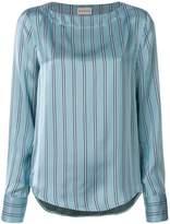 Moncler striped curved hem blouse