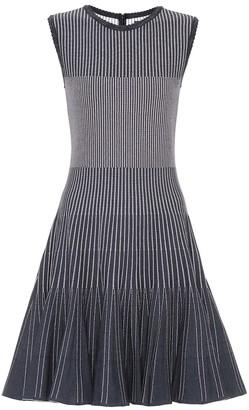 Oscar de la Renta Striped stretch-knit minidress