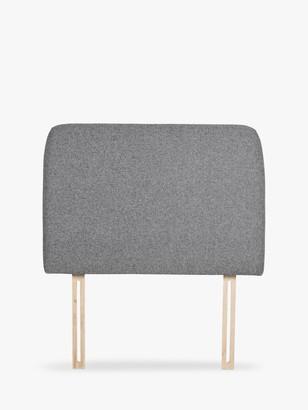 House by John Lewis Bonn Upholstered Headboard, Single, Saga Grey