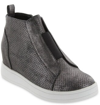 Mia Gracey Laceless Perforated Wedge Hi-Top Sneaker