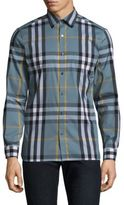Burberry Nelson Classic Fit Plaid Button-Down Shirt