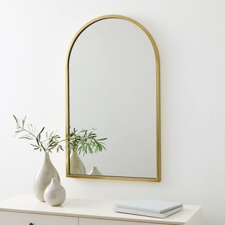 """west elm Metal Framed 36"""" Arched Wall Mirror"""