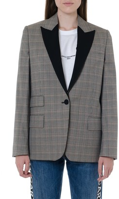 Stella McCartney Gray Wool Checked Jacket