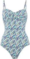Linea Smudge chevron twist bandeau swimsuit