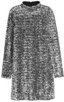 H&M Sequined Dress - Silver-colored - Ladies