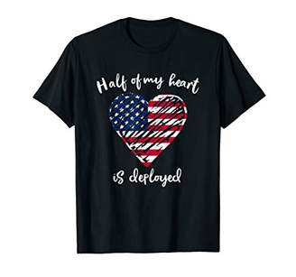 Military Wife Girlfriend Shirt Deployment American Flag Gift T-Shirt