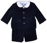 Florence Eiseman Velour Eton Suit w/ Shirt, Black, Size 12-24 Months
