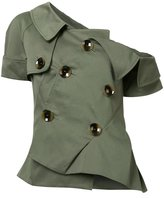 Monse - asymmetric pointy dress - women - Cotton - 6