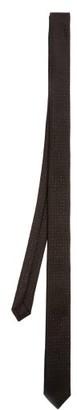 Saint Laurent Polka-dot Silk-blend Tie - Black