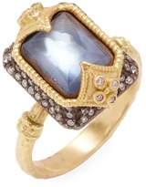 Armenta Women's Blue Sapphire, Mop, White Quartz Triplet & Diamonds Dulcinea Midnight & Yellow Gold Ring