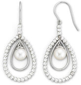 JCPenney FINE JEWELRY Cultured Freshwater Pearl & Sparkle Bead Earrings
