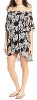 Moon River Women's Floral Print Off The Shoulder Dress