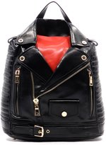 2Chique Boutique Women's Red and Motorcycle Jacket Backpack