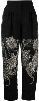 Alberta Ferretti Embroidered Cropped Trousers