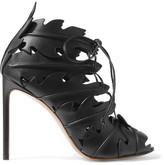 Francesco Russo Lace-up Leather Sandals - Black