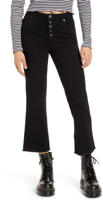 1822 Denim High Waist Crop Flare Jeans