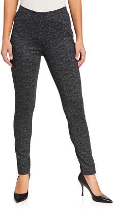 Neiman Marcus Camo Printed Knit Jeggings