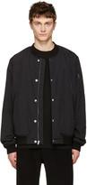 Alexander Wang Black Nylon Bomber Jacket
