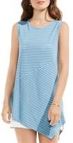 Vince Camuto Women's Asymmetrical Stripe Top
