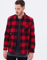 Quiksilver Mens Motherfly Flannel Long Sleeve Shirt