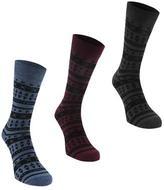 Firetrap 3 Pack Grin Socks
