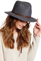 San Diego Hat Company Genuine Leather Trim Wool Hat