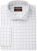 Tasso Elba Men's Classic Fit Non-Iron Windowpane French Cuff Dress Shirt, Created for Macy's