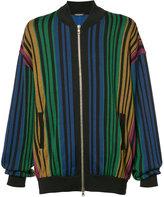 Balmain rainbow striped bomber jacket - men - Cotton/Polyamide/Spandex/Elastane - M