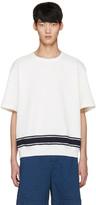 TOMORROWLAND White Stripe Knit T-shirt