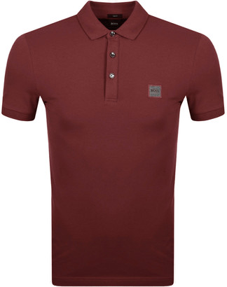 BOSS Passenger Polo T Shirt Red