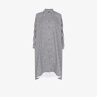 Rosetta Getty Striped Shift Midi Dress