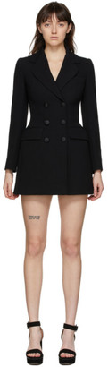Dolce & Gabbana Black Double-Breasted Blazer Dress