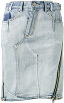 3.1 Phillip Lim Deconstructed denim skirt - women - Cotton - 4