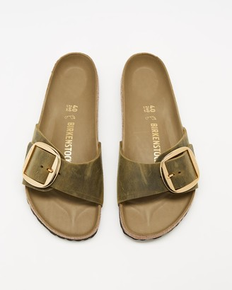 Birkenstock Women's Green Flat Sandals - Madrid Big Buckle - Women's - Size 38 at The Iconic