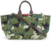 Muveil floral camouflage print tote