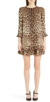 Dolce & Gabbana Women's Leopard Print Stretch Silk Dress