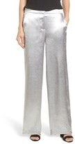 Vince Camuto Women's Wide Leg Hammered Satin Pants