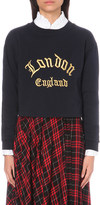 Claudie Pierlot Tod embroidered jersey sweatshirt
