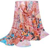 TONSEE Women Fashion Scarves-long Chiffon Scarf Wrap